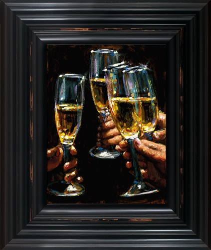 Image: Brindis Con Champagne - Vertical by Fabian Perez | Limited Edition on Canvas